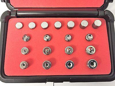 Rivet Squeezer Set Kit 20 Pcs Dimple Dies An426 Squeezer Sets An470 Flush Sets