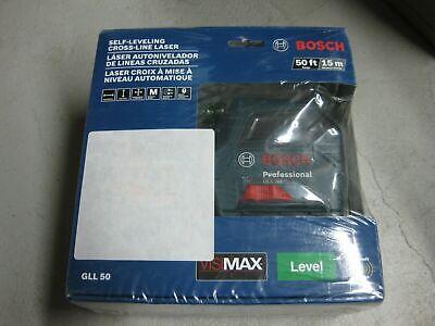 Brand New & Sealed! BOSCH 50 ft. Self Leveling Cross Line Laser Kit GLL 50
