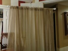 """Croscill 100% Polyester Taupe Sheer Curtains Rod Pocket Panels. 2pc. 55"""" by 87"""" 