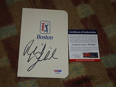 Phil Mickelson Deutsche Bank Signed Tpc Boston Scorecard Psa Dna