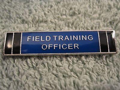 Field Training Officer Police Merit Badge FTO Cops Citation Bar Silvertone Pin