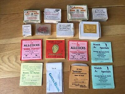 VINTAGE FISHING HOOKS ,BOXES,PACKETS.