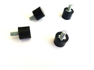 4 Rubber Vibration Isolator Mounts 14-20 34 Dia. X 58 Ht. 12 L Stud