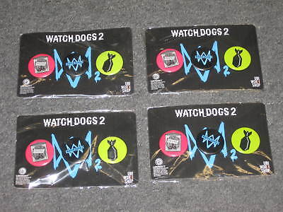 Used, LOT 4 UBISOFT Watch Dogs 2 watchdogs Set of 3 Pin back buttons promo PINS New for sale  Shipping to Nigeria
