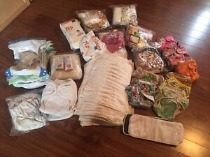 Huge stash of cloth diapers and supplies