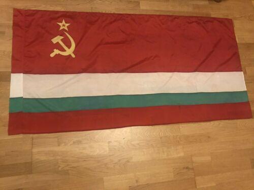 Authentic Big Flag Tajikistan Tajik Soviet Socialist Republic USSR Vintage