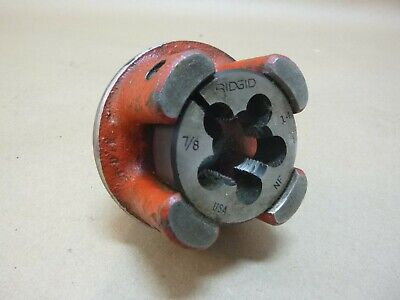 Ridgid 00-rb Ratchet Bolt Threader Die Head 78 W 78-14 Die