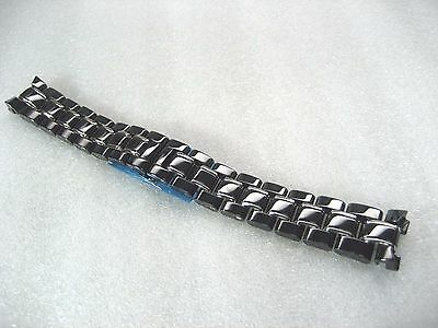 Accutron Black Bracelet - BULOVA ACCUTRON SWISS 65R132 BRACELET LADIES WATCH S/S BLACK CERAMIC 6.25 INCHES
