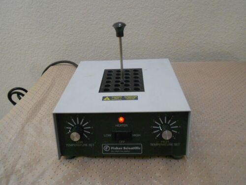 Fisher Analog Dry Bath Heater Incubator 11-718 w/ 24 x 1.5mL Block Works Clean