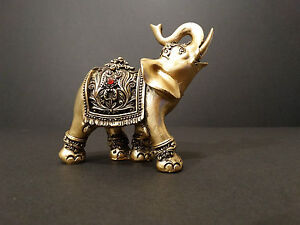 Indian Brass Color Elephant Ornament Medium Size  Perfect Gift