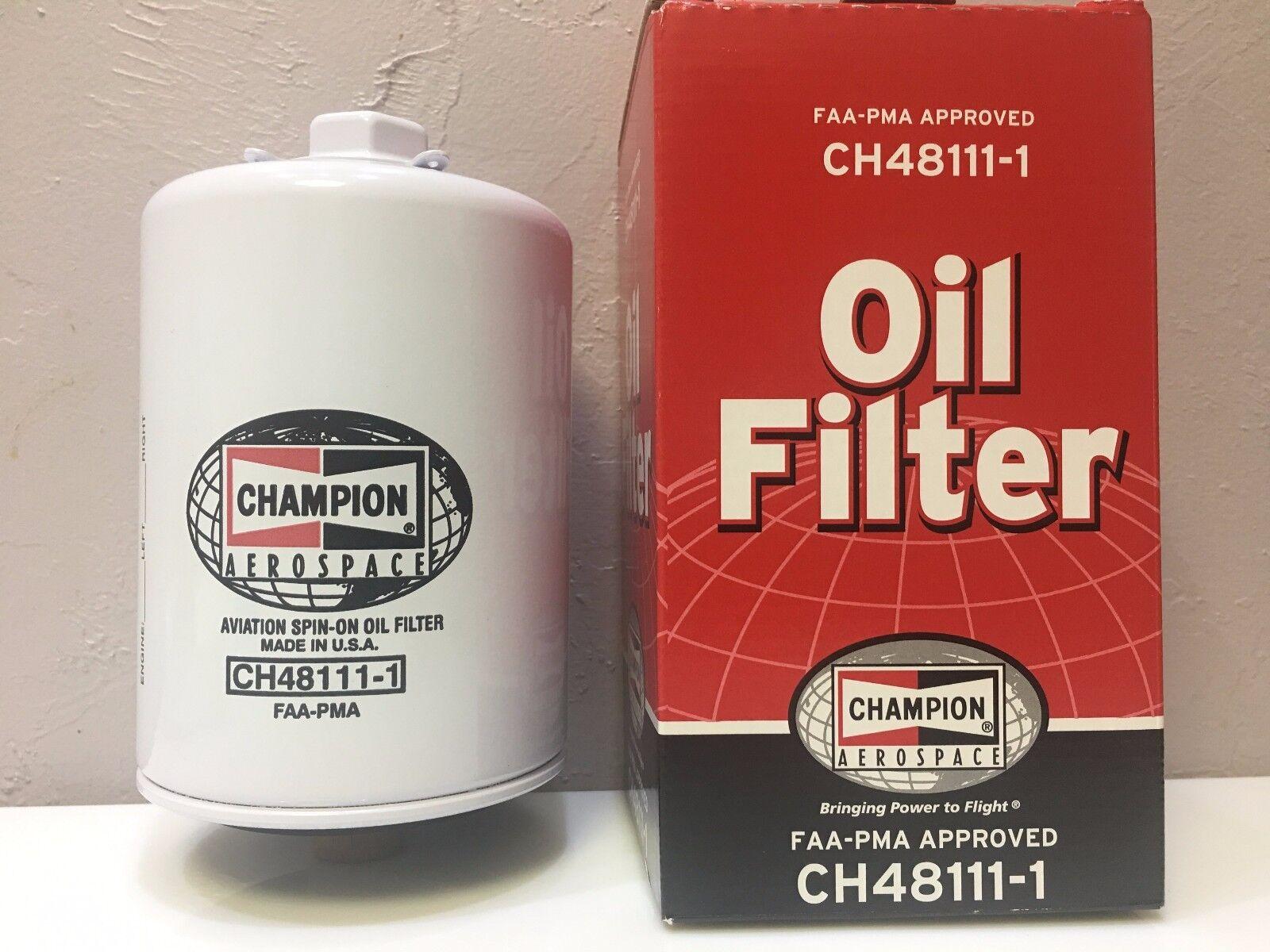 BRAND NEW CHAMPION AIRCRAFT OIL FILTER p/n CH48111-1 w/ FAA-PMA 8130 Certs