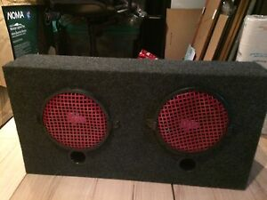 Dual 8' Car Subwoofer with AMP $100