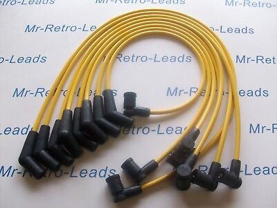 YELLOW 8MM PERFORMANCE IGNITION LEADS WILL FIT. TVR CHIMAERA V8  GEN 2 COIL PACK