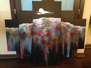Original Abstract Art (NYC artist) - 42 h x 62 w (in)