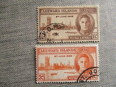 Leeward Islands, Scott#116-117, used