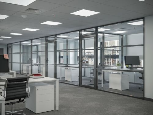 CGP Office Partition System, Glass Aluminum Wall 13