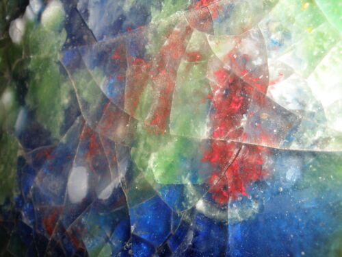 WAYLANDE GREGORY POTTERY ABSTRACT MID CENTURY SCULPTURE FUSED  GLASS TILE CHUNK