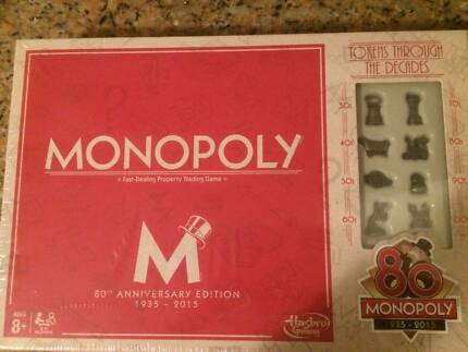 Monopoly  80 year anniversary board game.
