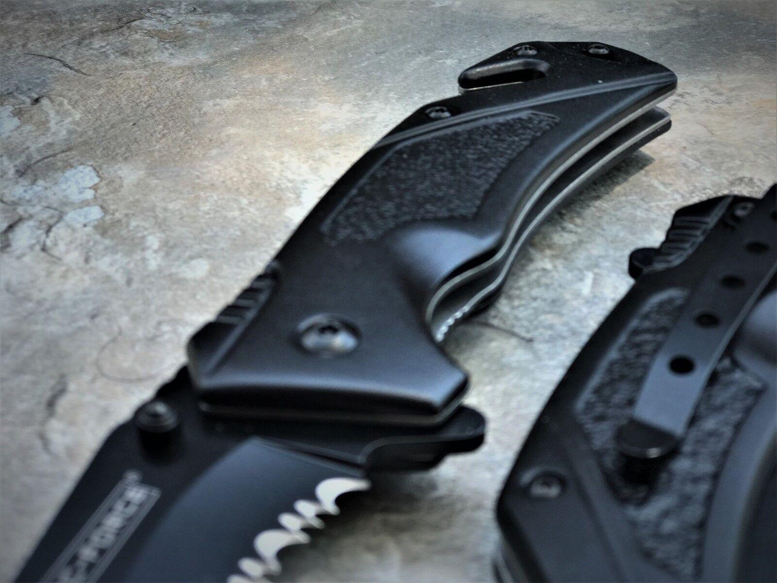 "TAC FORCE SPRING ASSISTED TACTICAL TANTO BLADE FOLDING RESCUE POCKET KNIFE 8.25"""