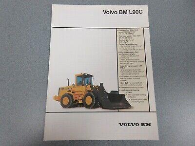 Volvo Bm L90c Wheel Loader Sales Brochure 6 Pages