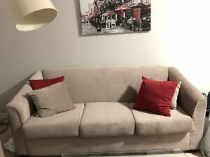 Couch and chair - beige as brand new!!