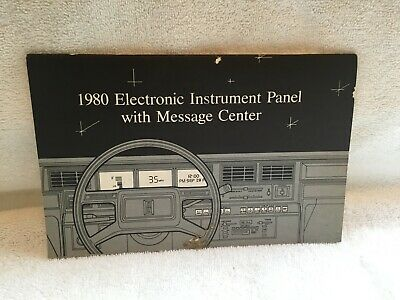 1980 LINCOLN ELECTRONIC INSTRUMENT PANEL WITH MESSAGE CENTER MANUAL, usado segunda mano  Embacar hacia Mexico