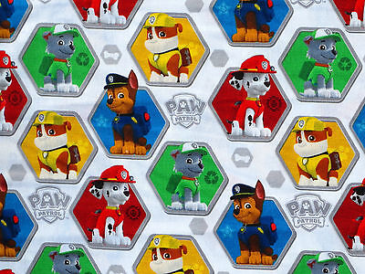 FAT QUARTER FABRIC PAW PATROL 100% COTTON CHASE RUBBLE SPIN MASTER CHILDREN'S FQ](Paw Patrol Fabric)