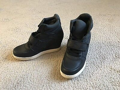 ASH Black Cool Ter Wedge Leather Sneakers
