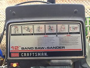 """Used Sears Craftsman Band Saw Sander 12"""" Woodworking Power Tool"""