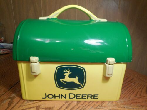 Green Yellow Lunch Box Cookie Jar