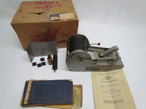 Vintage Tower Sears Roebuck Post-Card Mimeograph Machine 87044030 Postcard Rare