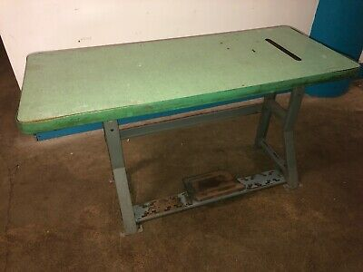 Vintage Singer Industrial Sewing Machine K-leg Table And Top. Our 8