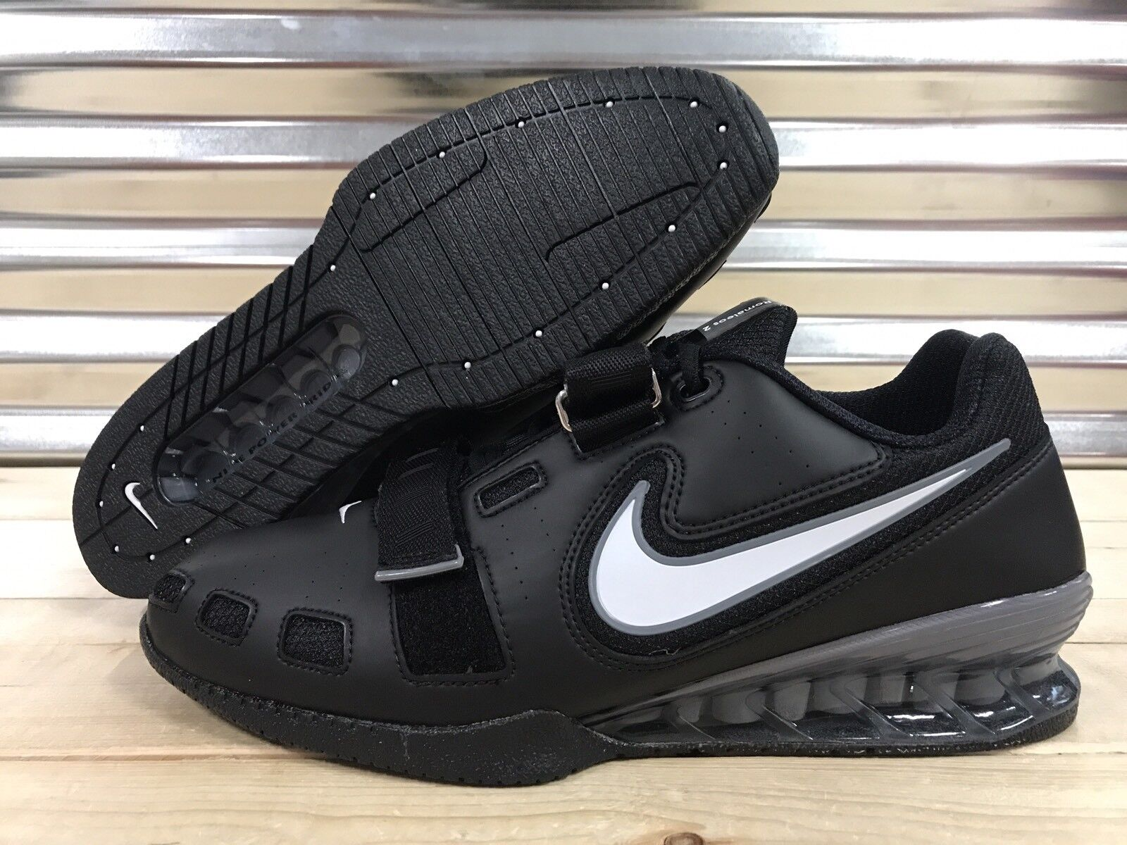3ecc59648d1a Nike Romaleos 2 Weightlifting Powerlifting Shoes Black Gray SZ ( 476927-010  )