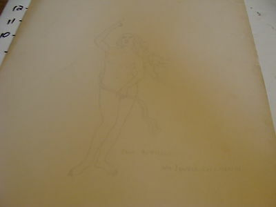 Vintage 1920's William M. Jewell drawing: from BOTTICELLI