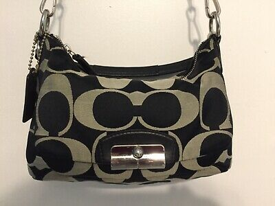 COACH KRISTIN Signature East Convertible Purse Handbag Satchel F22302