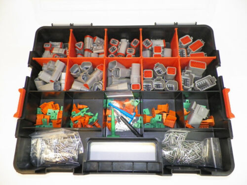 518 PC GRAY DEUTSCH DT CONNECTOR KIT SOLID CONTACTS + REMOVAL TOOLS