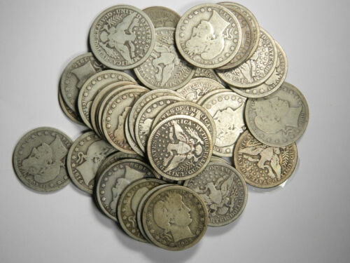 Barber Quarters 90% Silver Coin Lot , GOOD OR BETTER FULL RIMS, Choose How Many!
