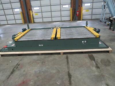 Hytrol Powered Roller Conveyor Sliding Pallet Transfer Cart 2 Pallet Unit 45w