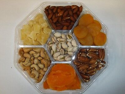 Gourmet Gift Tray, Nuts, Dried Fruit, or Both!