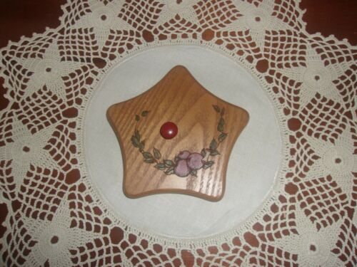 KS Lanam Wooden Laser Cut Lid Apples fits Longaberger Small Star Dish