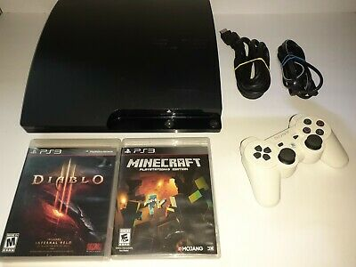 REFURBISHED Playstation 3 PS3 Slim Console system 320gb with controller games