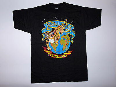 Vintage Original Bon Jovi All Around the World Europe Tour Shirt 1989/90 L