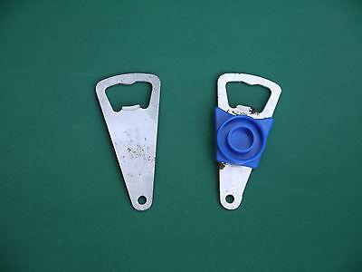 2 DDR Flaschenöffner Record blau + Trusetal Metall Kult Flaschenverschluss