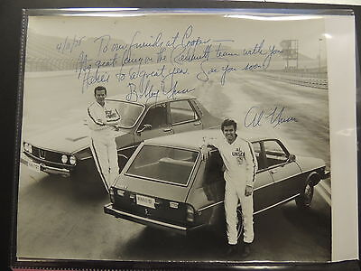 BOBBY AND AL UNSER RACE CAR DRIVERS SIGNED BLACK WHITE 8 X 10  - $39.95