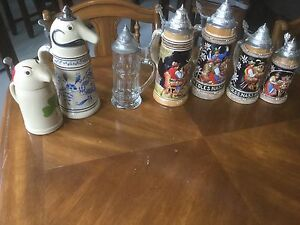 """Original ""assorted collectable beer Steins!!,Mugs & Glasses!"