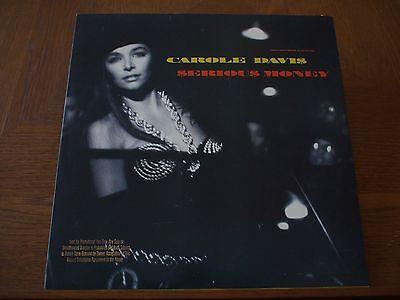 "CAROLE DAVIS Serious Money PROMO VINYL 12"" Single 1989 HIP HOP Electronic WARNER"