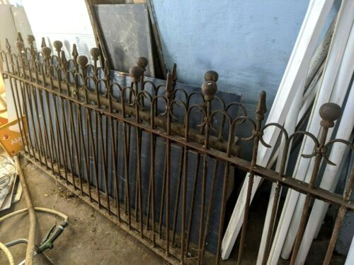 100 YEAR OLD ANTIQUE IRON FENCE SECTIONS ( 2 ) MAKE AN OFFER
