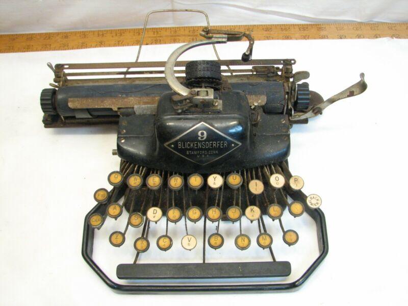 Antique BLickensderfer model 9 Portable Typewriter Needs Love Rough