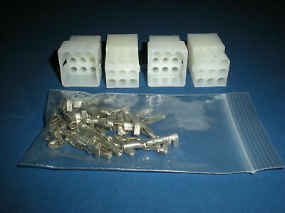 9 Pin Molex Connector Kit 2 Sets W14-20 Awg .093 Pins Free Hanging 0.093