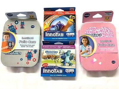 VTECH Innotab 2 Games / Case Starter Kit TURBO MONSTERS UNIVERSITY 4-7 YRS - Pre K Educational Games